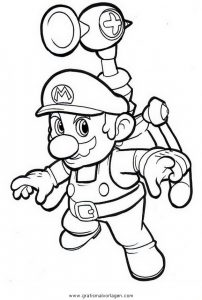 Mario Bros 16 Gratis Malvorlage In Comic Trickfilmfiguren Mario