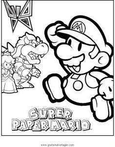 Mario Bros 26 Gratis Malvorlage In Comic Trickfilmfiguren Mario