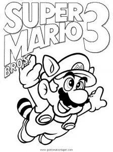 Mario Bros 28 Gratis Malvorlage In Comic Trickfilmfiguren Mario