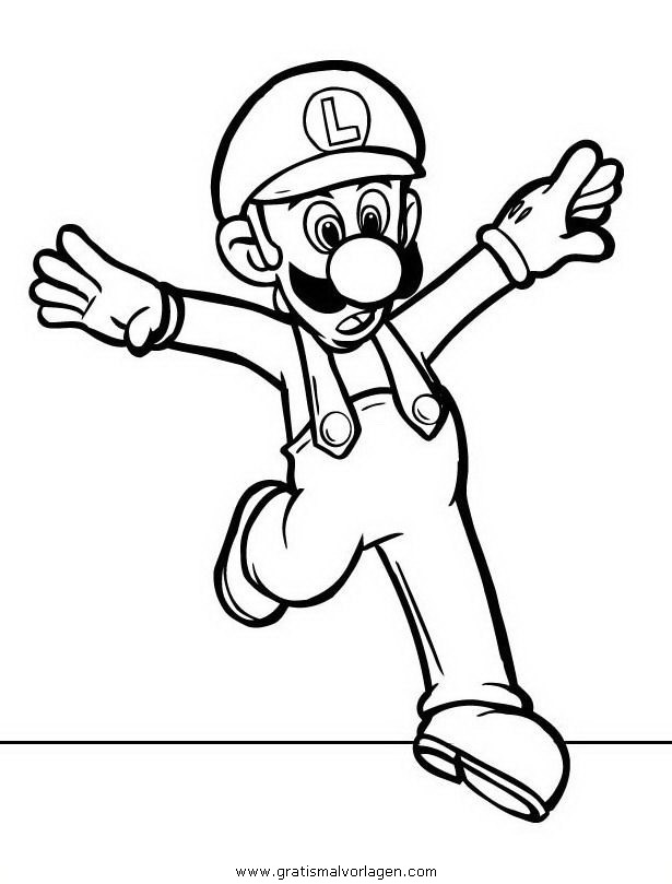 Mario bros 29 gratis malvorlage in comic for Disegni da colorare di mario