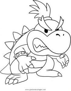 Mario Bros 34 Gratis Malvorlage In Comic Trickfilmfiguren Mario
