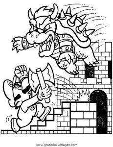 Mario Bros 35 Gratis Malvorlage In Comic Trickfilmfiguren Mario
