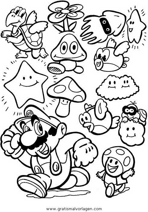 Mario Bros 36 Gratis Malvorlage In Comic