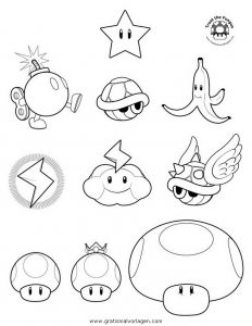 Mario Bros 38 Gratis Malvorlage In Comic Trickfilmfiguren Mario