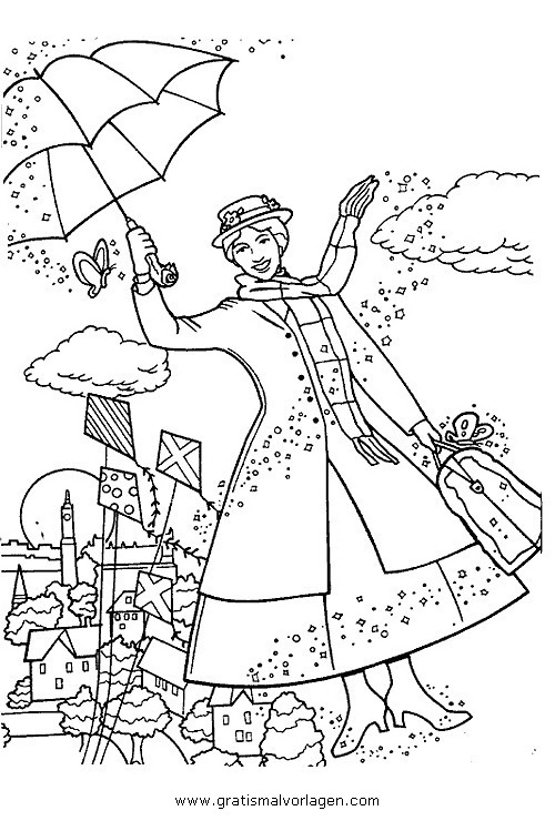 Mary Poppins Gratis Malvorlage In Beliebt05 Diverse