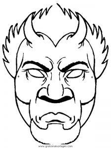 Malvorlage Masken masken 21