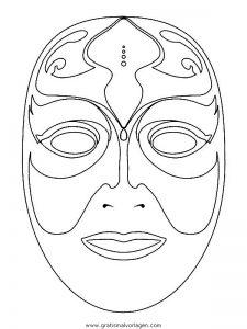 Malvorlage Masken masken 40