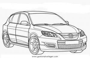 Mazda 3 Gratis Malvorlage In Autos2 Transportmittel Ausmalen