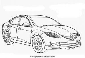 Mazda 6 Gratis Malvorlage In Autos2 Transportmittel Ausmalen