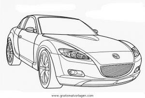 Mazda Rx8 Gratis Malvorlage In Autos2 Transportmittel Ausmalen