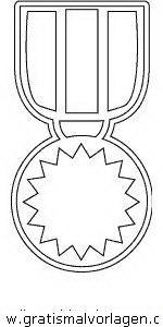 Malvorlage Beliebt03 medaille 2