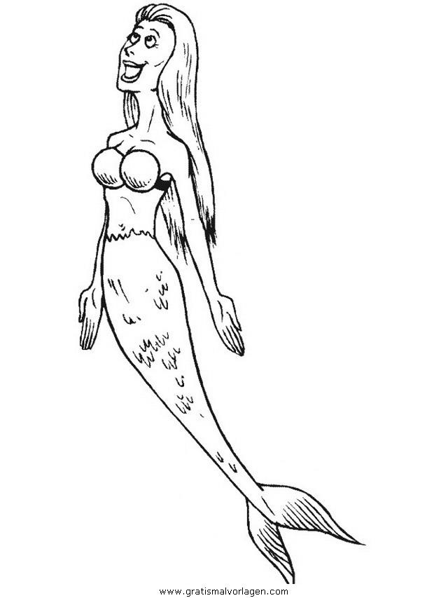 meerjungfrauen 18 gratis malvorlage in fantasie