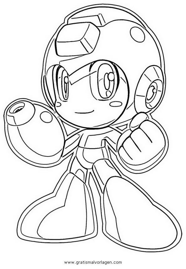 Megaman 17 Gratis Malvorlage In Comic Amp Trickfilmfiguren