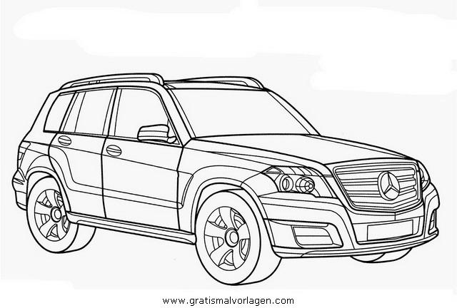Mercedes Glk Gratis Malvorlage In Autos2 Transportmittel Ausmalen