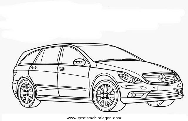 mercedes r gratis malvorlage in autos2 transportmittel