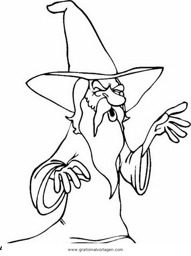 merlin 1 gratis malvorlage in fantasie zauberer  ausmalen
