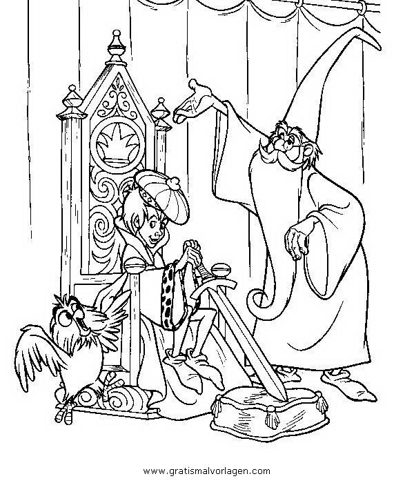 merlin 6 gratis malvorlage in fantasie zauberer  ausmalen