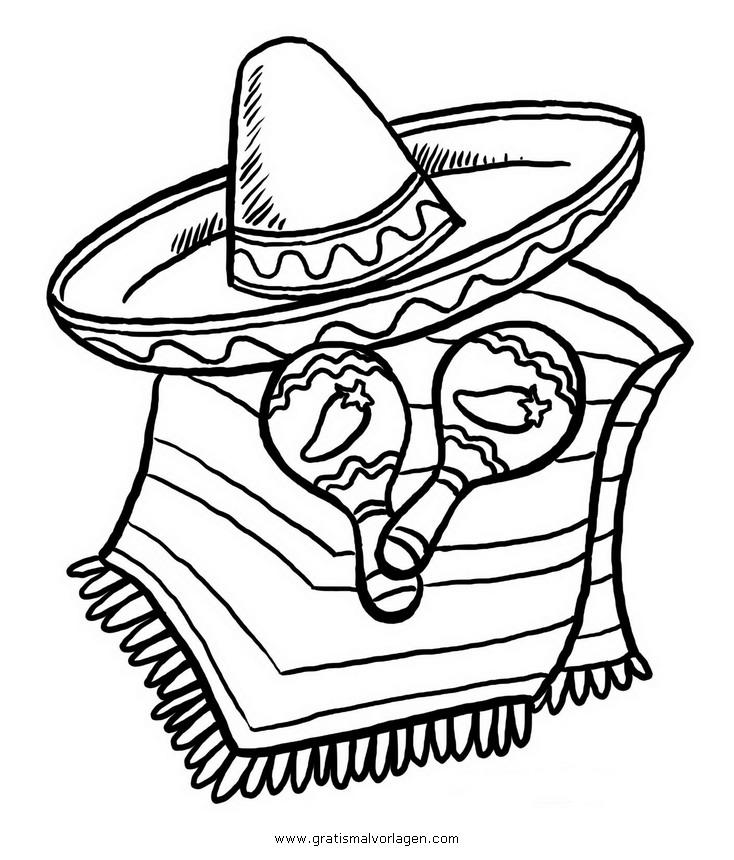 mexico sombrero 03 gratis Malvorlage in Beliebt06, Diverse ...