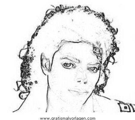Michael Jackson 05 Gratis Malvorlage In Diverse Malvorlagen