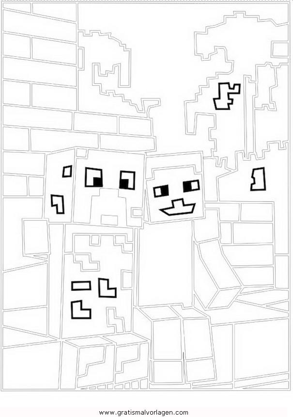minecraft creeper 1 gratis malvorlage in beliebt13