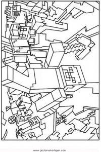 Minecraft Creeper Gratis Malvorlage In Beliebt Diverse - Minecraft hauser ausmalbilder
