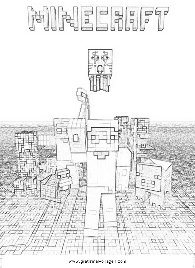 minecraft 2 gratis malvorlage in beliebt08 diverse