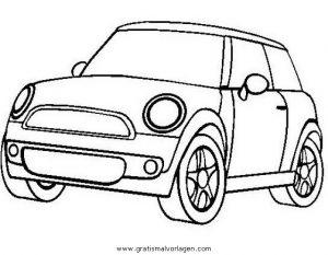 mini cooper gratis malvorlage in autos2, transportmittel - ausmalen
