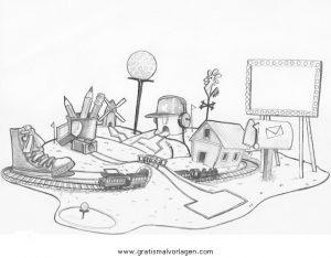 Gratis Malvorlagen Minigolf Coloring And Malvorlagan