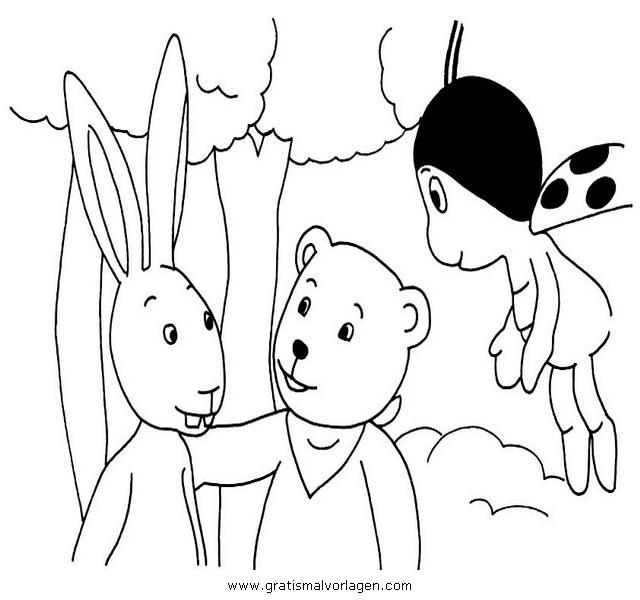 mondbaer 01 gratis malvorlage in comic  trickfilmfiguren