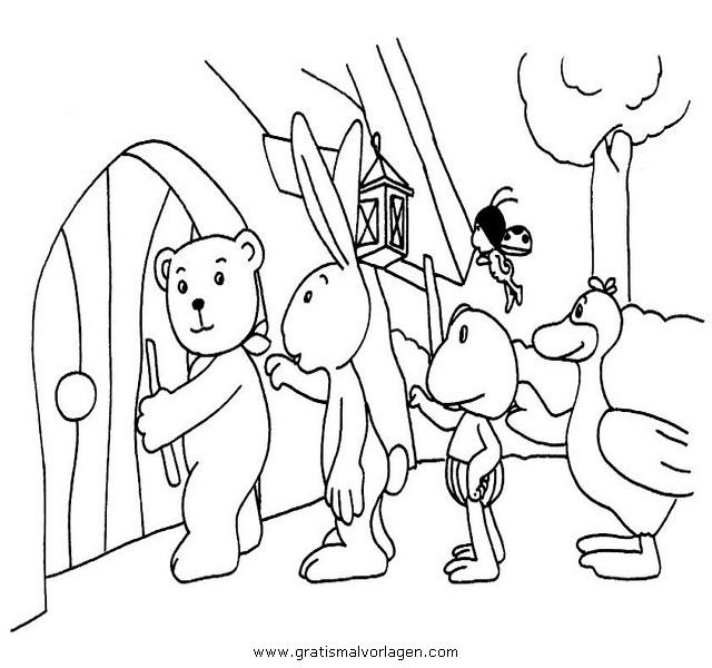 mondbaer 02 gratis malvorlage in comic  trickfilmfiguren