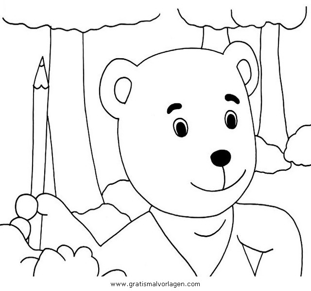 mondbaer 04 gratis malvorlage in comic  trickfilmfiguren