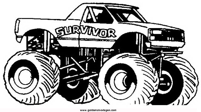 monstertruck 2 gratis Malvorlage