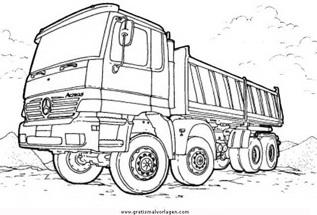 monstertruck 3 gratis Malvorlage in Lastwagen, Transportmittel ...