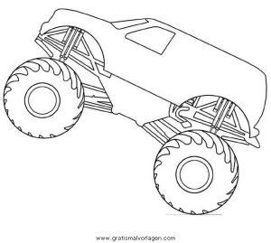 Monstertruck Monstertrucks 35 Gratis Malvorlage In Lastwagen