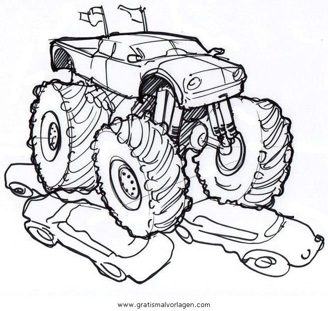 monstertruck monstertrucks 38 gratis Malvorlage in Lastwagen ...