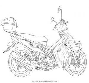 moped 19 gratis malvorlage in motorrad, transportmittel - ausmalen