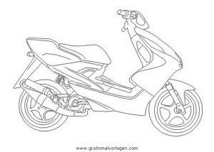 Moped 20 Gratis Malvorlage In Motorrad Transportmittel Ausmalen