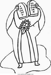 Moses Gebote 008 Gratis Malvorlage In Moses Religionen Ausmalen