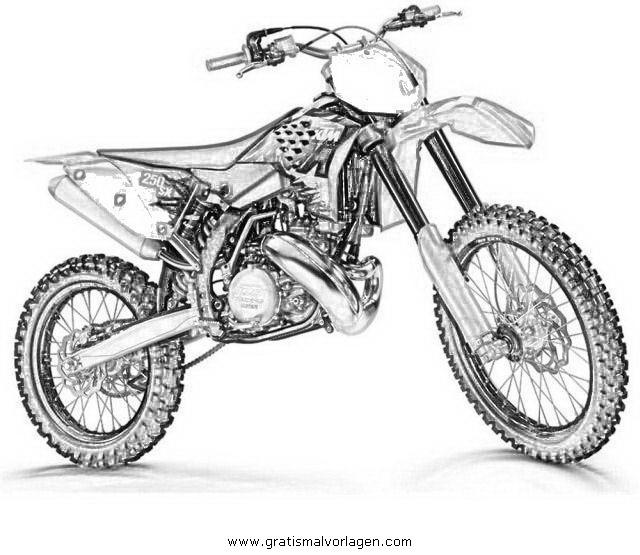 Motorcross 1 gratis malvorlage in motorrad transportmittel ausmalen - Dessin moto ktm a colorier ...