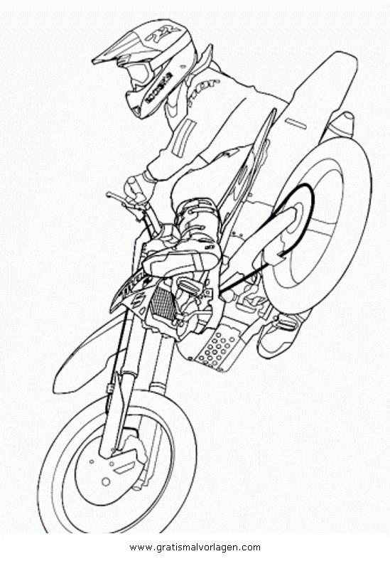 motorcross 7 gratis malvorlage in motorrad