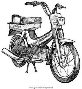 Motorrad 18 Gratis Malvorlage In Motorrad Transportmittel Ausmalen