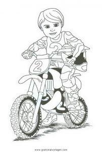 Motorrad 26 Gratis Malvorlage In Motorrad Transportmittel Ausmalen