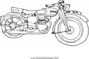 Motorrad 27 Gratis Malvorlage In Motorrad Transportmittel Ausmalen