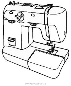 Malvorlage Beliebt12 naehmaschine 2