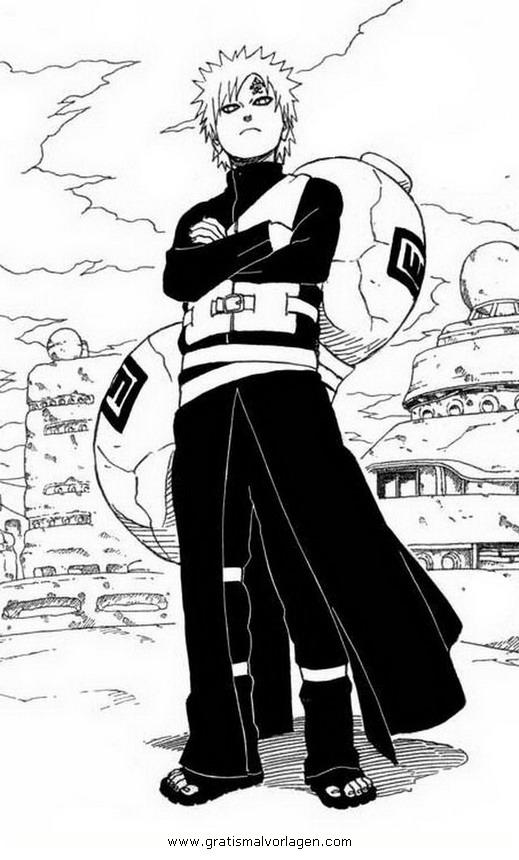 Galupy 1 Gratis Malvorlage In Comic Trickfilmfiguren: Naruto Gaara 1 Gratis Malvorlage In Comic