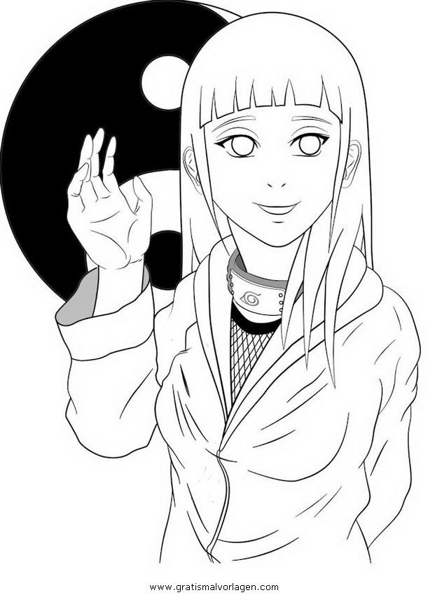 Naruto Hinata 01 Gratis Malvorlage In Comic