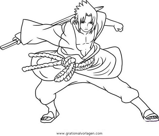 naruto sasuke 04 gratis malvorlage in comic