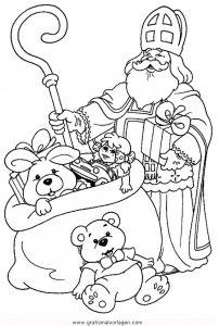 Nikolaus 2 Gratis Malvorlage In Weihnachten Weihnachtsmänner Ausmalen