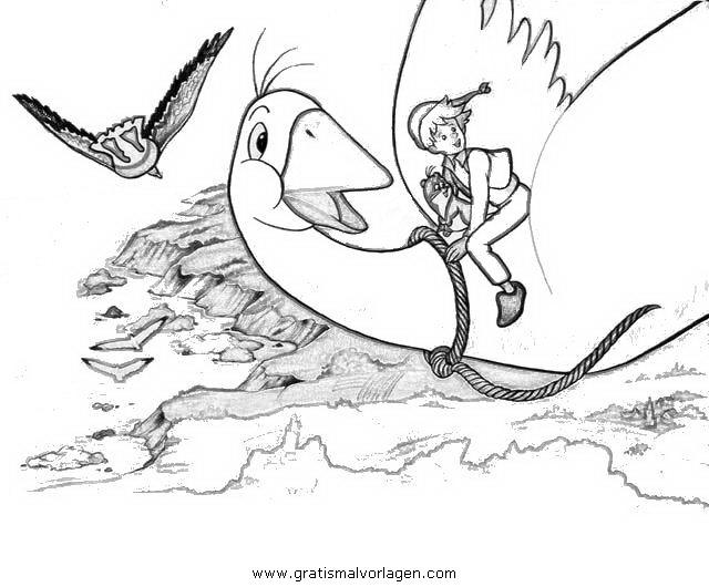 Nils Holgerson 7 Gratis Malvorlage In Comic