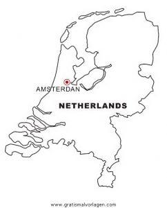 Niederlande Karte Umriss.Landkarte Holland Niederlande Gratis Malvorlage In Geografie
